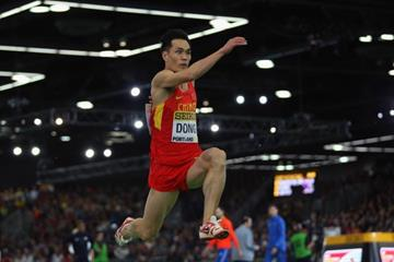 .Dong Bin at the IAAF World Indoor Championships Portland 2016 (Getty Images)