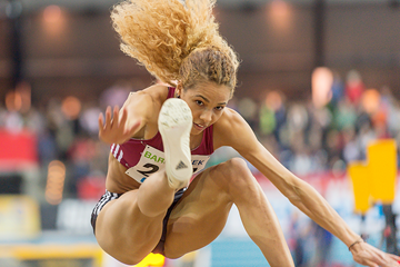 Long jumper Alexandra Wester in action at the German Indoor Championships (Getty Images)