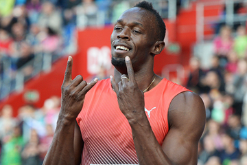 Usain Bolt after winning the 100m (AFP / Getty Images)
