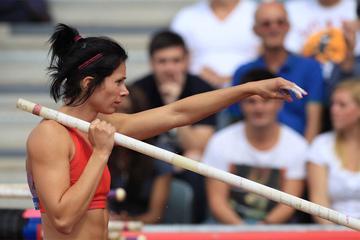 USA's Jenn Suhr, winner of the Pole Vault (Jean-Pierre Durand)