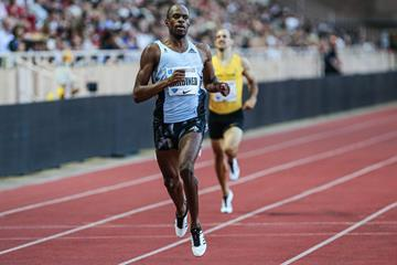 Steven Gardiner takes the 400m at the IAAF Diamond League meeting in Monaco (Philippe Fitte)