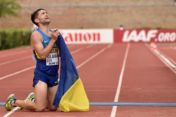 Igor Glavan after finishing third in the 50km at the IAAF World Race Walking Team Championships Rome 2016 (Getty Images)