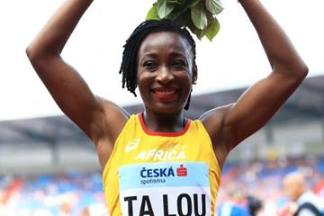 Marie Josee Ta Lou after her Continental Cup 100m victory (Getty Images)