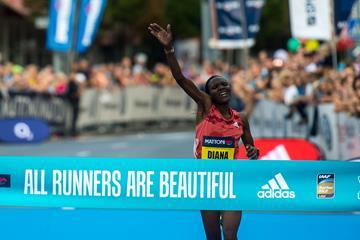 Diana Chemtai Kipyokei takes the Usti nad Labem Half Marathon (organisers)