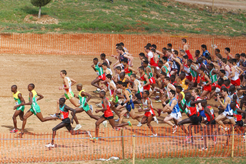 Junior cross-country runners in action (Getty Images)