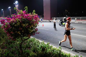 Evan Dunfee in the 50km race walk at the IAAF World Athletics Championships Doha 2019 (Getty Images)