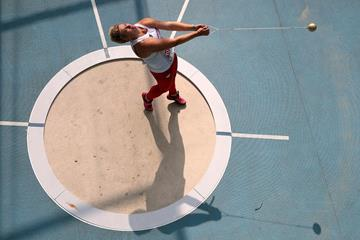 Eventual silver medallist Anita Wlodarczyk in action at the World Championships in Moscow (Getty Images)