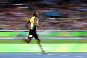 Usain Bolt in the 200m at the Rio 2016 Olympic Games (Getty Images)
