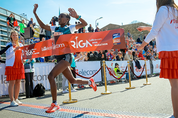 Bekelech Daba wins the Riga Marathon (Organisers)