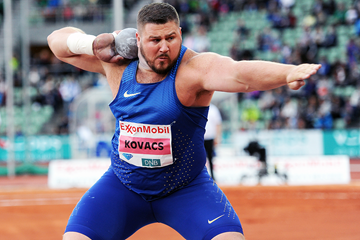 Joe Kovacs, winner of the shot put at the IAAF Diamond League meeting in Oslo (Mark Shearman)