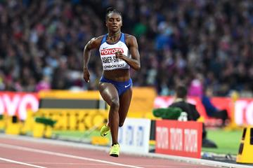 Dina Asher-Smith in the 200m at the IAAF World Championships London 2017 (Getty Images)