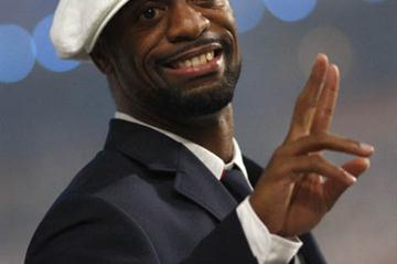Tyson Gay wearing his US team uniform at the opening ceremony of the 2008 Beijing Olympic Games (Getty Images)
