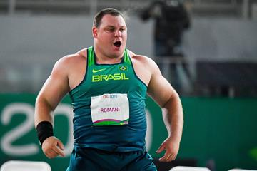 Darlan Romani, winner of the shot put at the Pan-American Games in Lima (AFP / Getty Images)