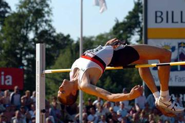 Staffan Strand clears 2.30m at Swedish championships (Hasse Sjögren)