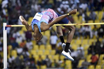 Mutaz Barshim wins the high jump at the Diamond League meeting in Doha (Hasse Sjogren/Jiro Mochizuki)