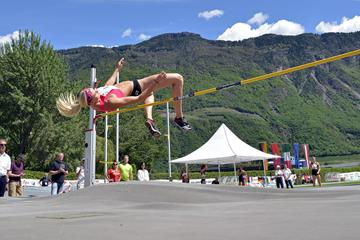 Anne Kunz in the heptathlon high jump at the Multistars meeting in Lana (Daniele Morandi)