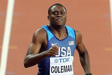 Christian Coleman in action at the IAAF World Championships (Getty Images)