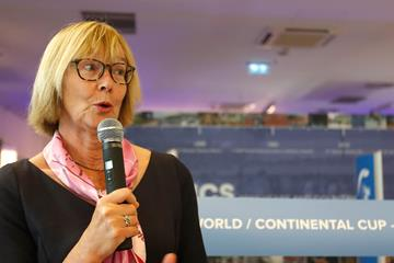IAAF Council Member Sylvia Barlag at the IAAF Heritage Exhibition in Ostrava (Getty Images)