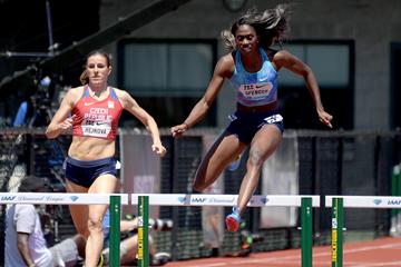Eugene women's 400m hurdles field IAAF Diamond League ...