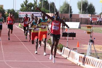 Solomon Lekuta wins the 800m at the African junior championships (organisers)