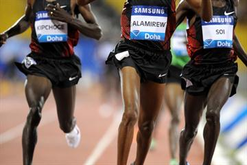 Yenew Alamirew wins big - sizzling 7:27.26 in Doha (Jiro Mochizuki)