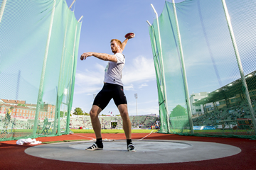 Christoph Harting in the discus at the IAAF Diamond League meeting in Oslo (AFP / Getty Images)