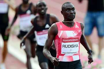 David Rudisha wins the 800m in Szekesfehervar (AFP / Getty Images)