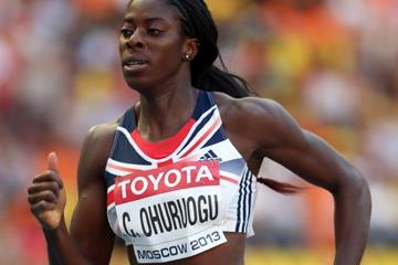 Christine Ohuruogu in the womens' 400m at the IAAF World Athletics Championships Moscow 2013 (Getty Images)