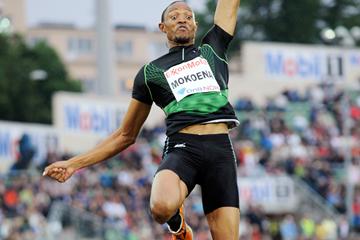 Godfrey Mokoena in the long jump at the Diamond League meeting in Oslo (DECA Text & Bild)