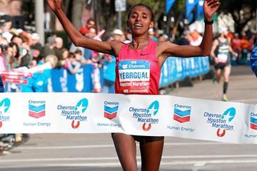 Yebrqual Melese wins the Houston Marathon (Victah Sailer / organisers)