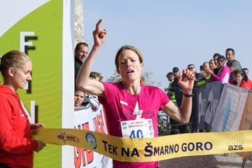 Karin Mayr wins the 2017 Smarna Gora mountain race (organisers)