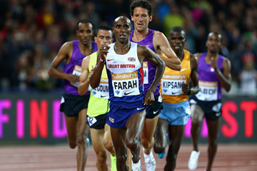 Mo Farah in action at the IAAF Diamond League meeting in London (Getty Images)