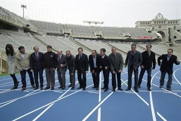New track inaugurated at Barcelona's Olympic Stadium (Barcelona 2010 LOC)