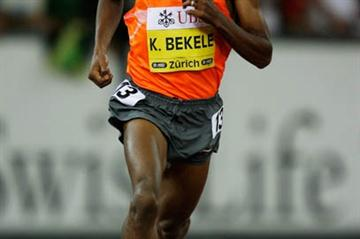 Kenenisa Bekele sets a World Leading 5000m time of 12:52.32 in Zurich (Getty Images)