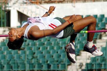 Harishankar Roy (India) jumping in Chennai (Krishnan)