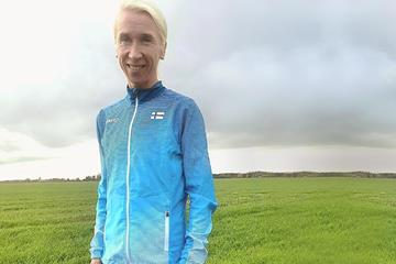 Finnish distance runner Annemari Kiekara ()