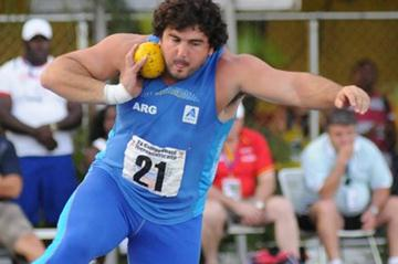 German Lauro adds the Shot Put title to his Discus win in Barquisimeto (Eduardo Biscayart)