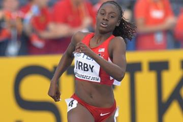Lynna Irby in the 400m at the IAAF World U20 Championships Bydgoszcz 2016 (Getty Images)