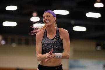 Pole vaulter Sandi Morris at the US Indoor Championships (Getty Images)