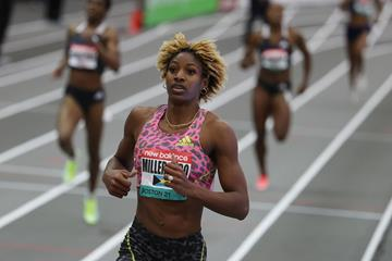 400m winner Shaunae Miller-Uibo at the New Balance Indoor Grand Prix (Getty Images)
