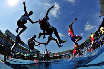 Boys' 2000m steeplechasers at the IAAF World Youth Championships, Cali 2015 (Getty Images)