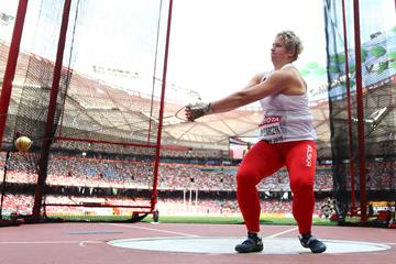 Anita Wlodarczyk in hammer qualifying at the IAAF World Championships, Beijing 2015 (Getty Images)