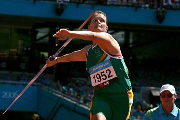 South Africa's Sunette Viljoen throwing to gold - Melbourne (Getty Images)