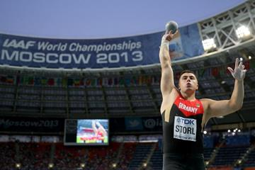 David Storl in the mens Shot Put Final at the IAAF World Athletics Championships Moscow 2013 (Getty Images)