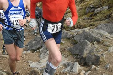 Anna Pichrtova en route to victory at the Three Peaks race (Pete Hartley)