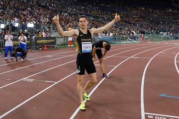 Filippo Tortu at the IAAF Diamond League meeting in Rome (Philippe Fitte)