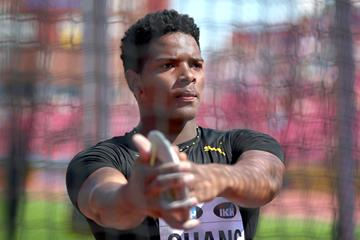 Discus winner Kai Chang at the IAAF World U20 Championships Tampere 2018 (Getty Images)
