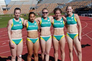 Members of Australia's 4x100m team (Athletics Australia)