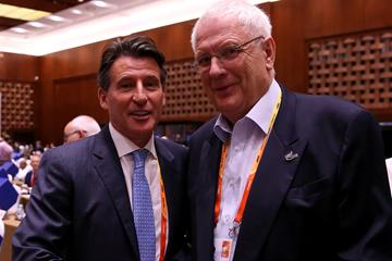 World Athletics President Sebastian Coe and Svein Arne Hansen (Getty Images)