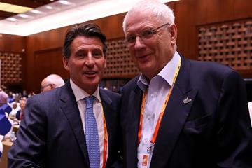 World Athletics President Sebastian Coe and Svein Arne Hansen (Getty Images)